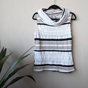Dolan Anthro Striped Knit Cowl Neck Sleeveless Top